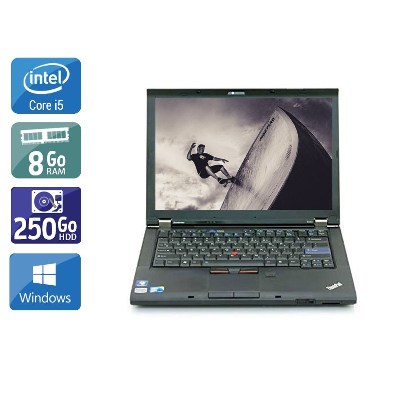 Lenovo ThinkPad T410 i5 8Go RAM 250Go HDD Windows 10