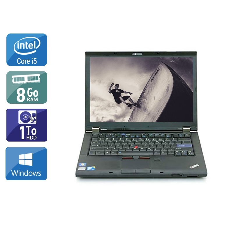 Lenovo ThinkPad T410 i5 8Go RAM 1To HDD Windows 10