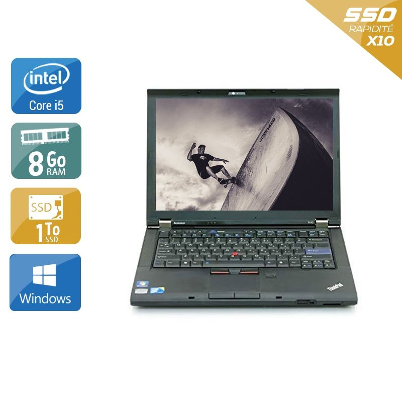 Lenovo ThinkPad T410 i5 8Go RAM 1To SSD Windows 10