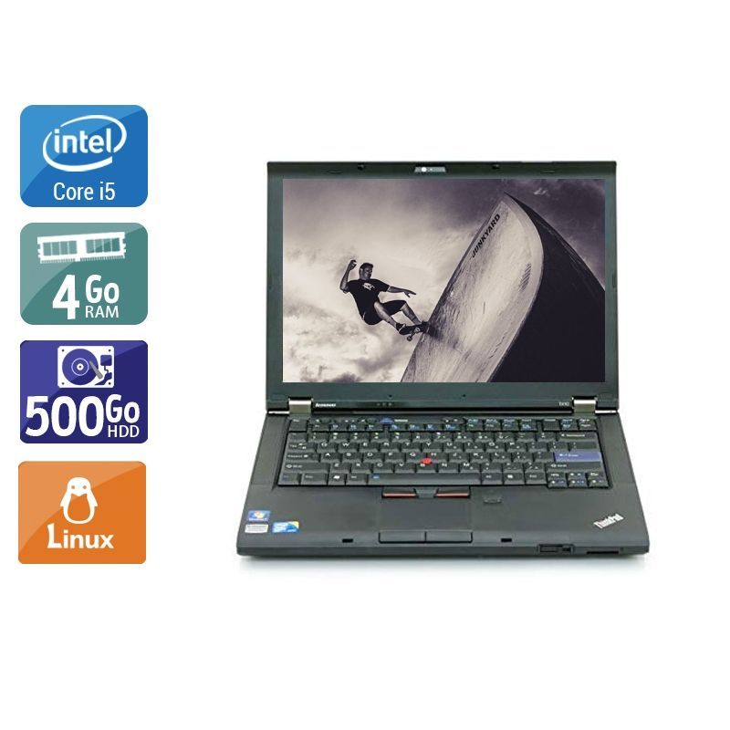 Lenovo ThinkPad T410 i5 4Go RAM 500Go HDD Linux