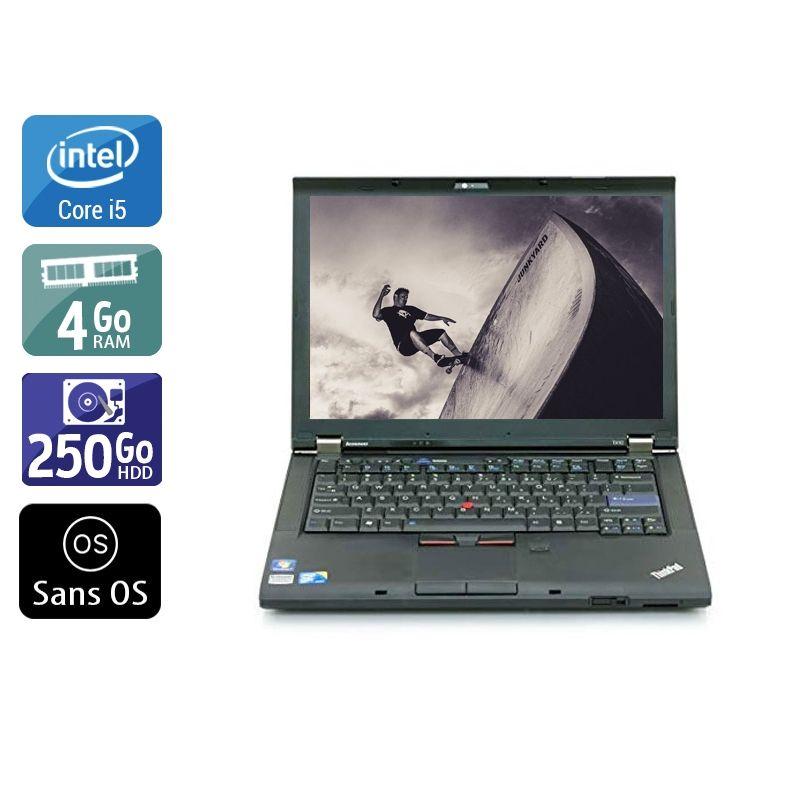 Lenovo ThinkPad T410 i5 4Go RAM 250Go HDD Sans OS