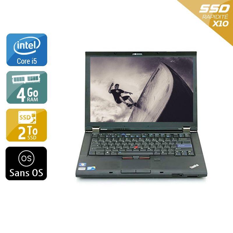 Lenovo ThinkPad T410 i5 4Go RAM 2To SSD Sans OS