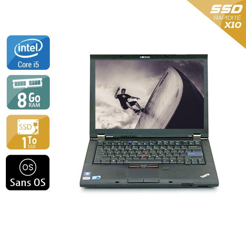 Lenovo ThinkPad T410 i5 8Go RAM 1To SSD Sans OS