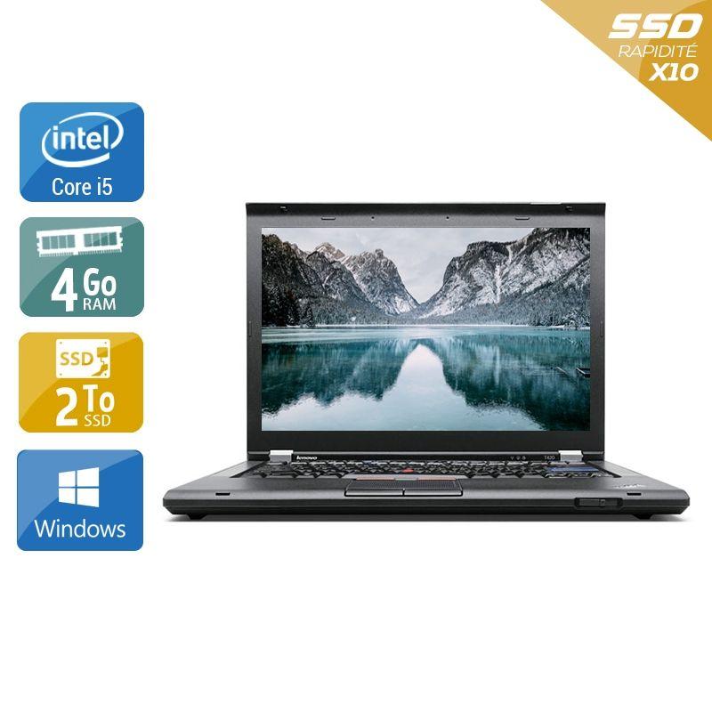 Lenovo ThinkPad T420 i5 4Go RAM 2To SSD Windows 10