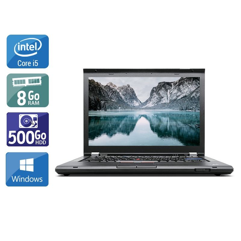 Lenovo ThinkPad T420 i5 8Go RAM 500Go HDD Windows 10