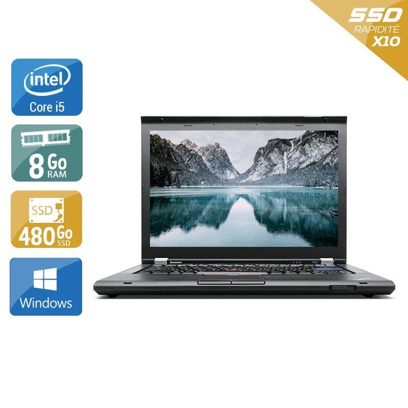 Lenovo ThinkPad T420 i5 8Go RAM 480Go SSD Windows 10