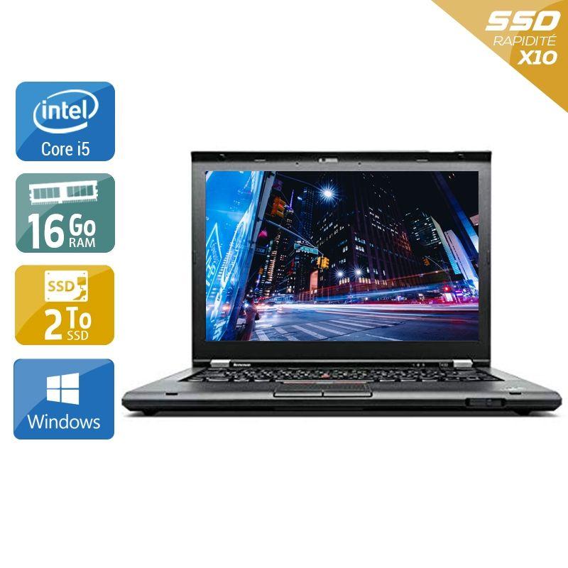 Lenovo ThinkPad T430 i5 16Go RAM 2To SSD Windows 10