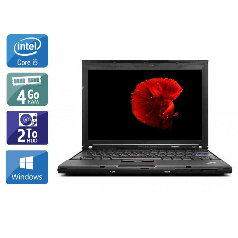 Lenovo ThinkPad X201 i5 4Go RAM 2To HDD Windows 10
