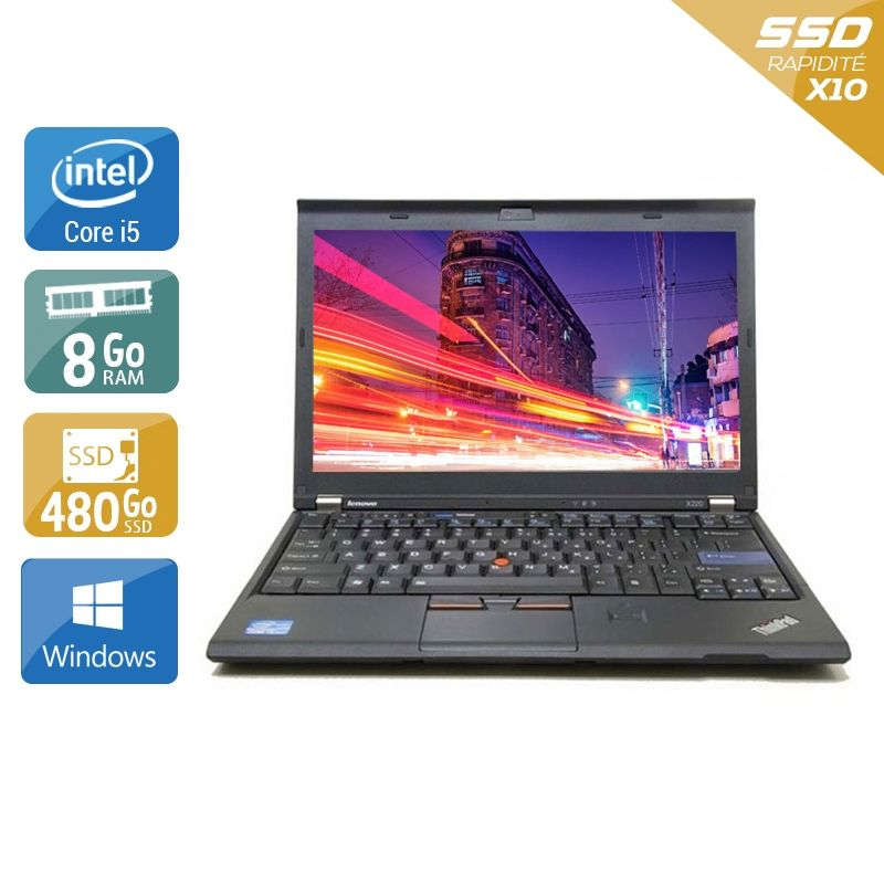 Lenovo ThinkPad X220 i5 8Go RAM 480Go SSD Windows 10