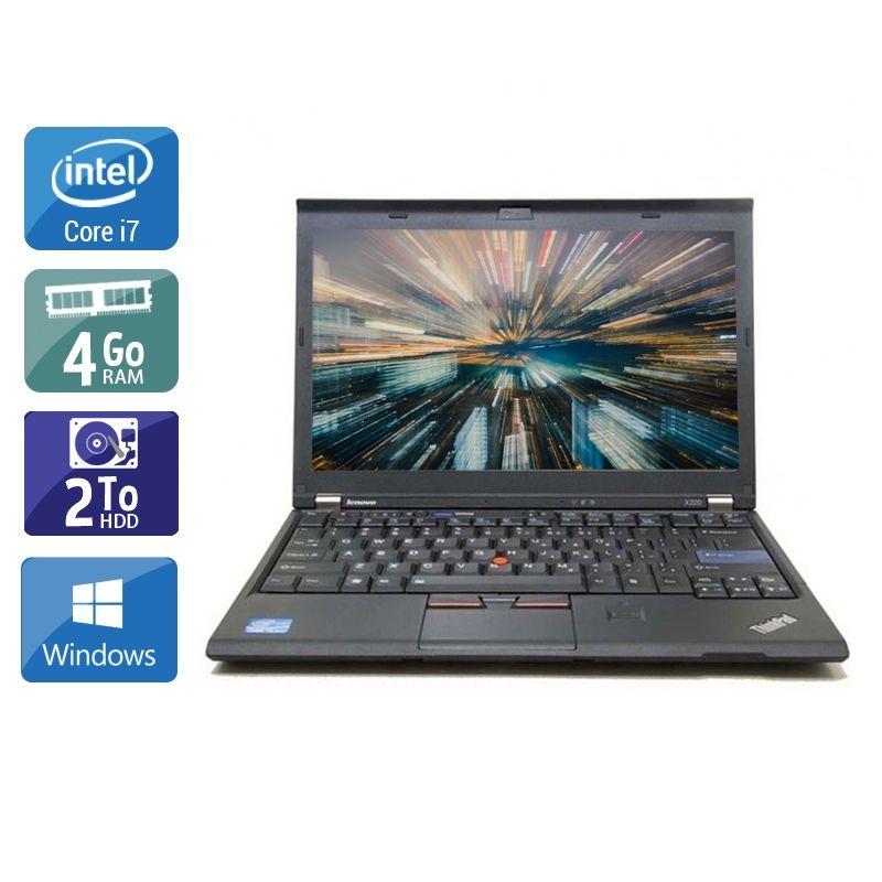 Lenovo ThinkPad X220 i7 4Go RAM 2To HDD Windows 10