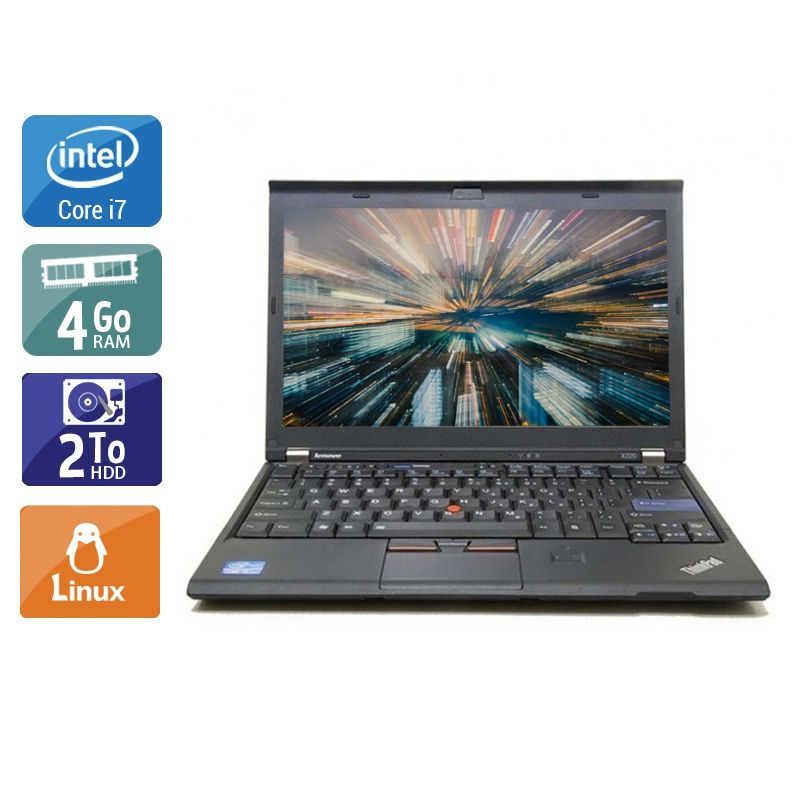 Lenovo ThinkPad X220 i7 4Go RAM 2To HDD Linux