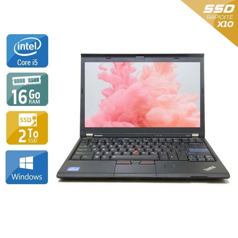 Lenovo ThinkPad X230 i5 16Go RAM 2To SSD Windows 10