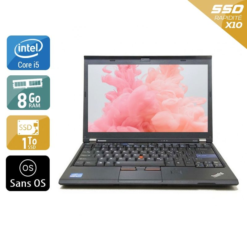 Lenovo ThinkPad X230 i5 8Go RAM 1To SSD Sans OS