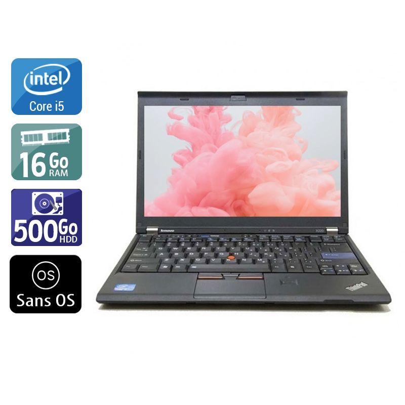 Lenovo ThinkPad X230 i5 16Go RAM 500Go HDD Sans OS