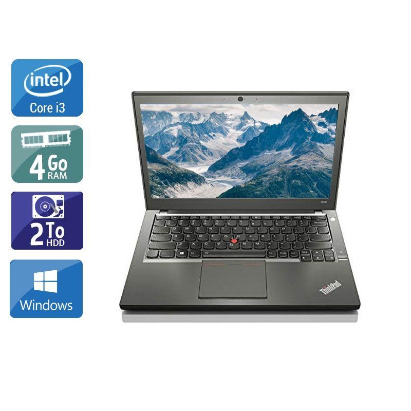 Lenovo ThinkPad X240 i3 4Go RAM 2To HDD Windows 10