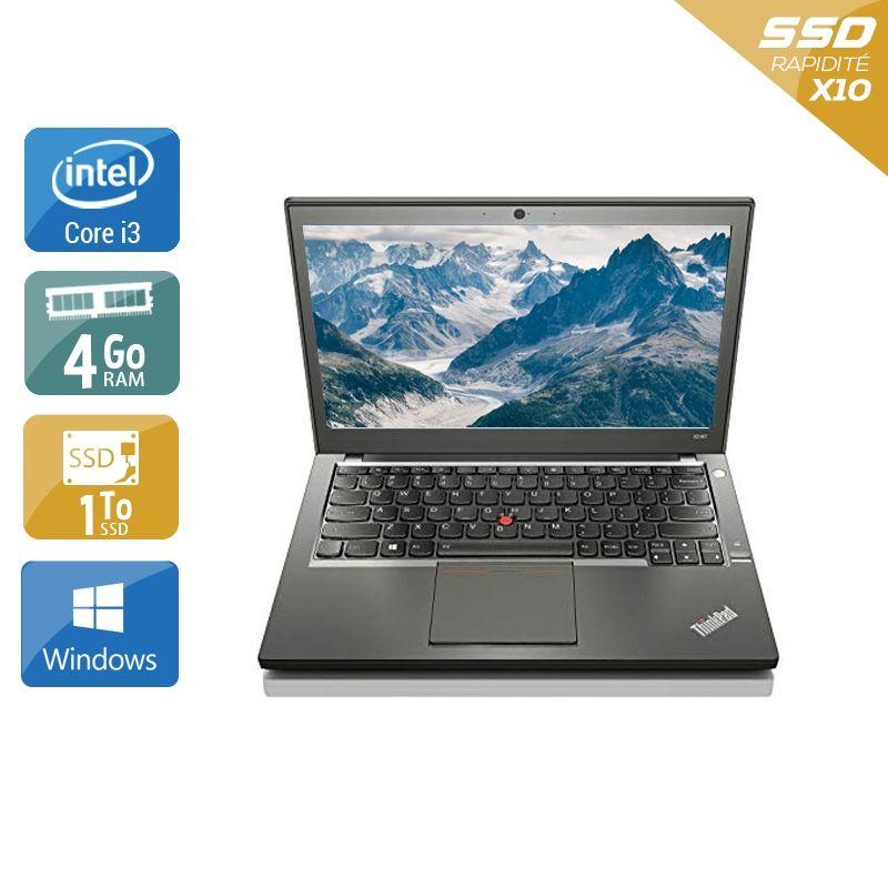 Lenovo ThinkPad X240 i3 4Go RAM 1To SSD Windows 10