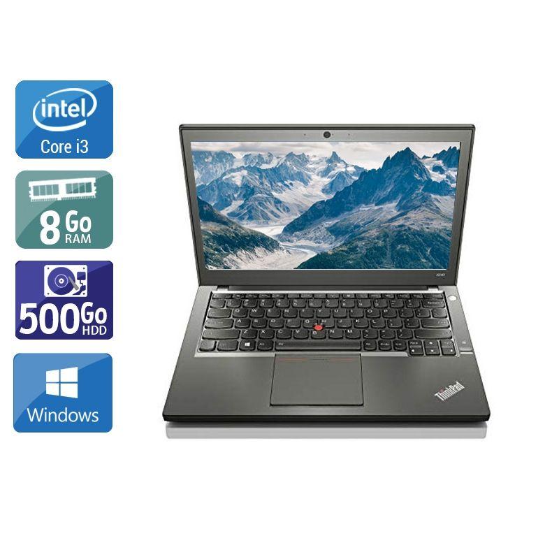 Lenovo ThinkPad X240 i3 8Go RAM 500Go HDD Windows 10