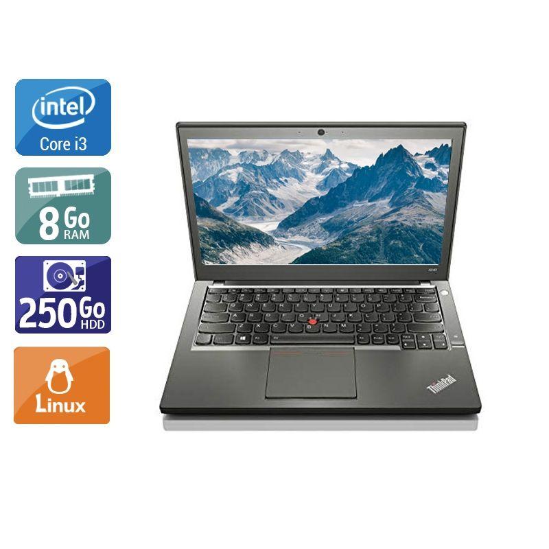 Lenovo ThinkPad X240 i3 8Go RAM 250Go HDD Linux
