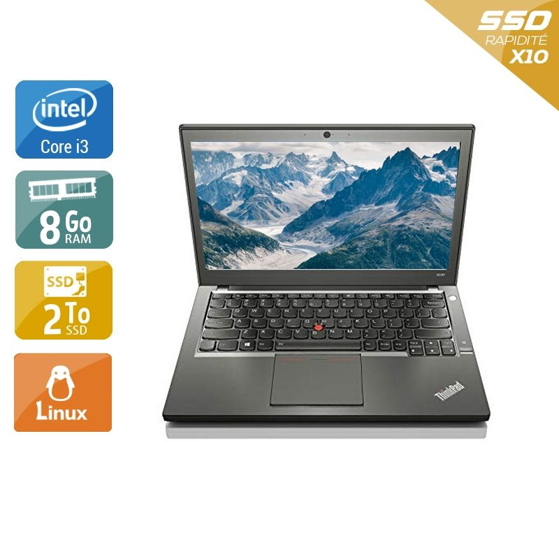 Lenovo ThinkPad X240 i3 8Go RAM 2To SSD Linux