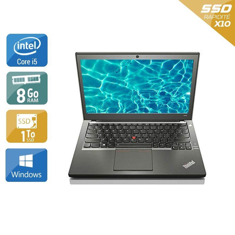 Lenovo ThinkPad X240 i5 8Go RAM 1To SSD Windows 10