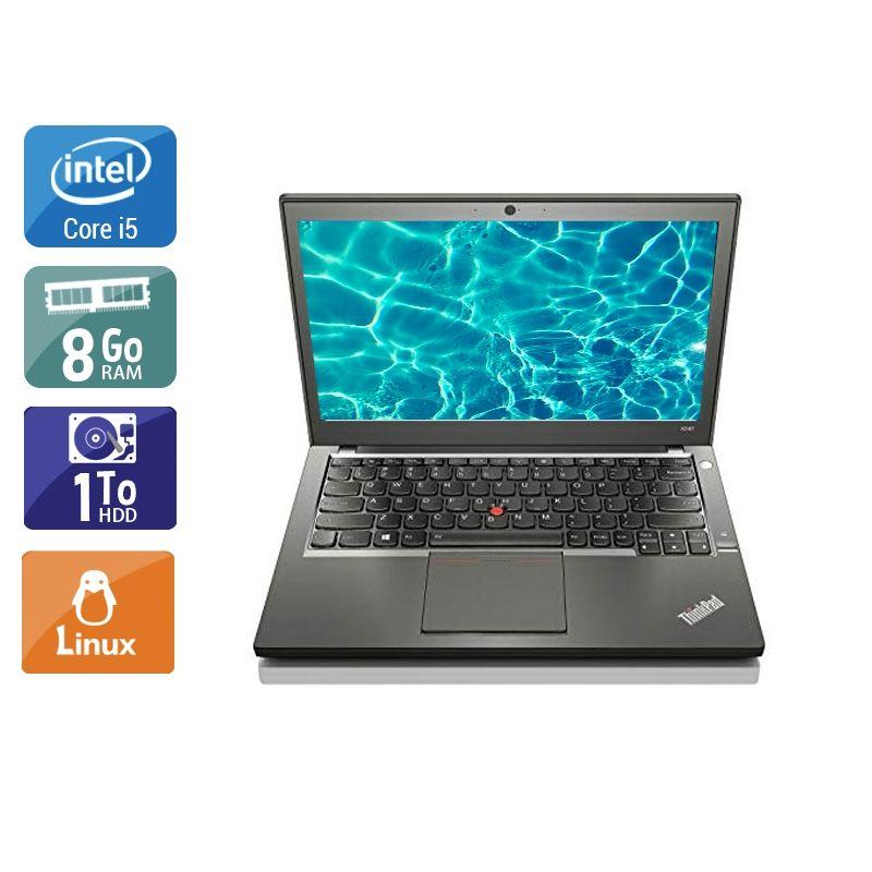 Lenovo ThinkPad X240 i5 8Go RAM 1To HDD Linux