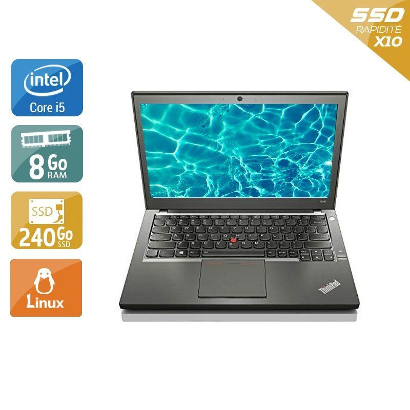 Lenovo ThinkPad X240 i5 8Go RAM 240Go SSD Linux