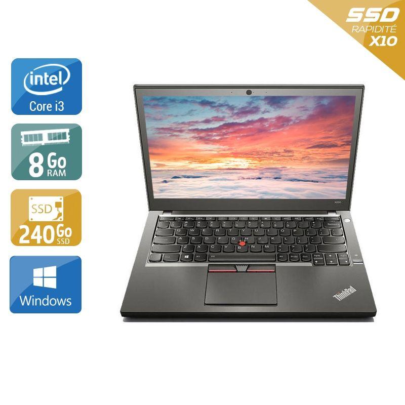 Lenovo ThinkPad X250 i3 8Go RAM 240Go SSD Windows 10