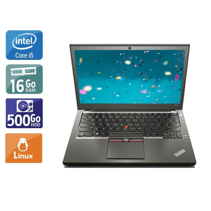 Lenovo ThinkPad X250 i5 16Go RAM 500Go HDD Linux