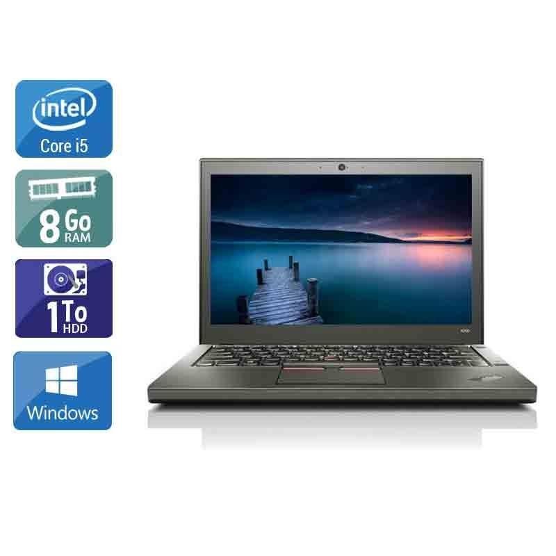 Lenovo ThinkPad X260 i5 8Go RAM 1To HDD Windows 10