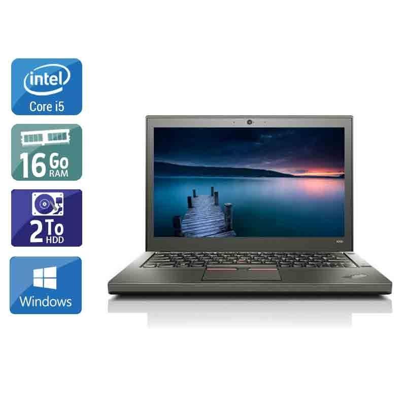 Lenovo ThinkPad X260 i5 16Go RAM 2To HDD Windows 10