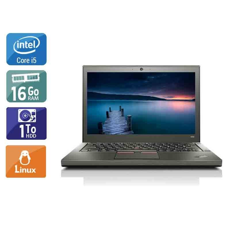Lenovo ThinkPad X260 i5 16Go RAM 1To HDD Linux