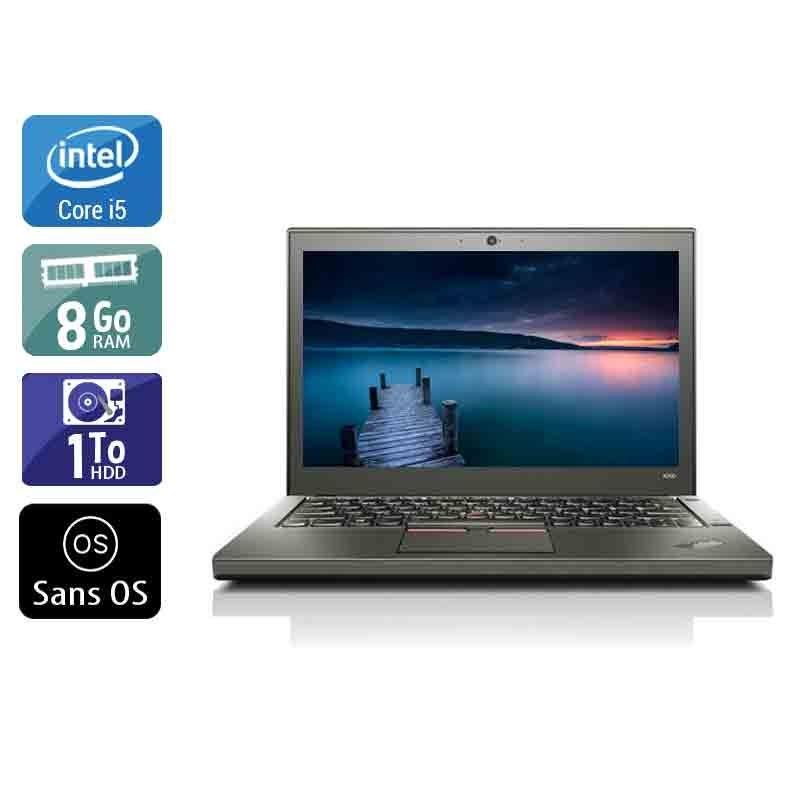 Lenovo ThinkPad X260 i5 8Go RAM 1To HDD Sans OS