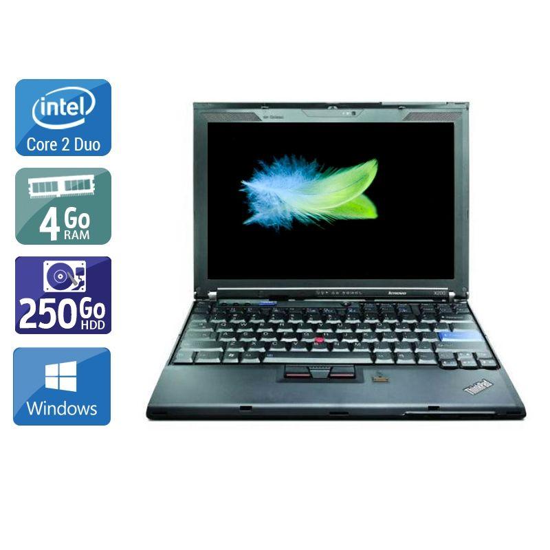 Lenovo ThinkPad X200 Core 2 Duo 4Go RAM 250Go HDD Windows 10
