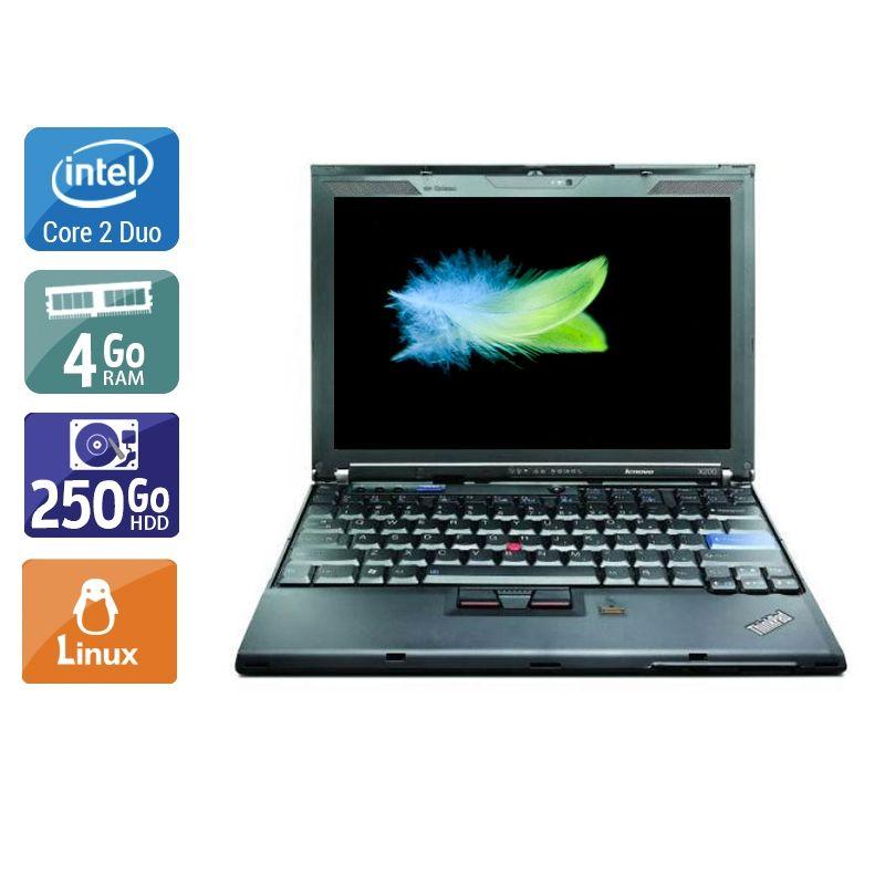 Lenovo ThinkPad X200 Core 2 Duo 4Go RAM 250Go HDD Linux