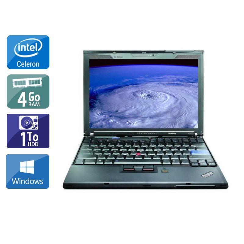 Lenovo ThinkPad X200S Celeron 4Go RAM 1To HDD Windows 10