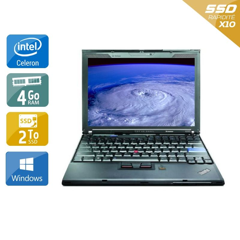 Lenovo ThinkPad X200S Celeron 4Go RAM 2To SSD Windows 10