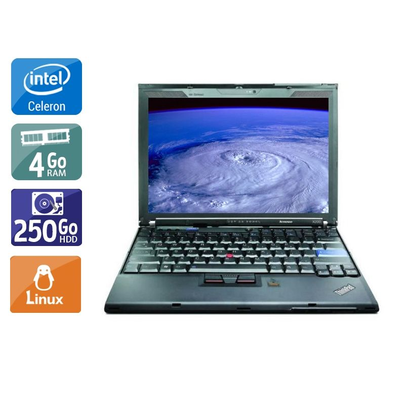 Lenovo ThinkPad X200S Celeron 4Go RAM 250Go HDD Linux