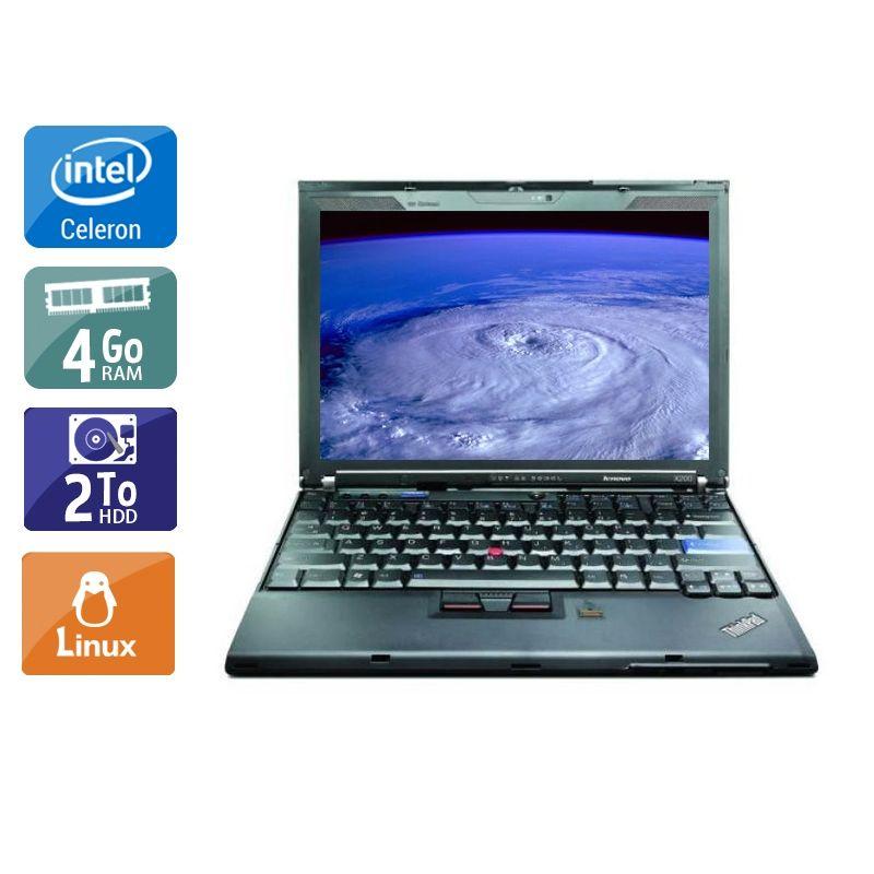 Lenovo ThinkPad X200S Celeron 4Go RAM 2To HDD Linux