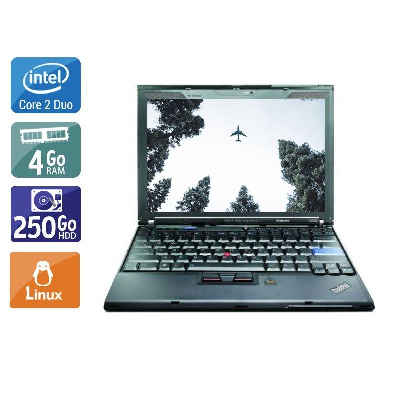 Lenovo ThinkPad X200S Core 2 Duo 4Go RAM 250Go HDD Linux