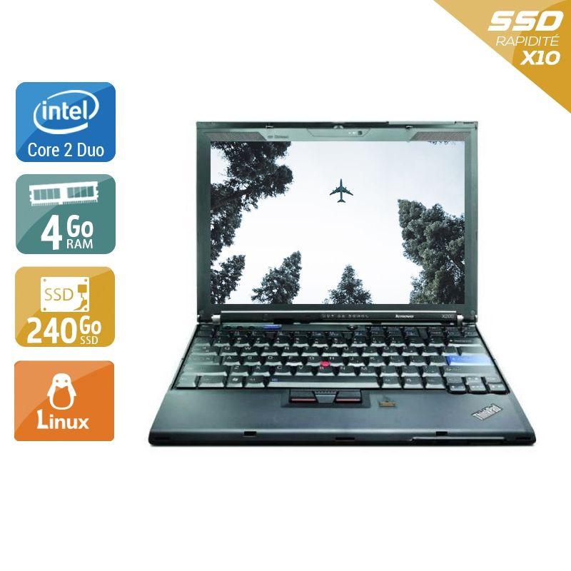 Lenovo ThinkPad X200S Core 2 Duo 4Go RAM 240Go SSD Linux