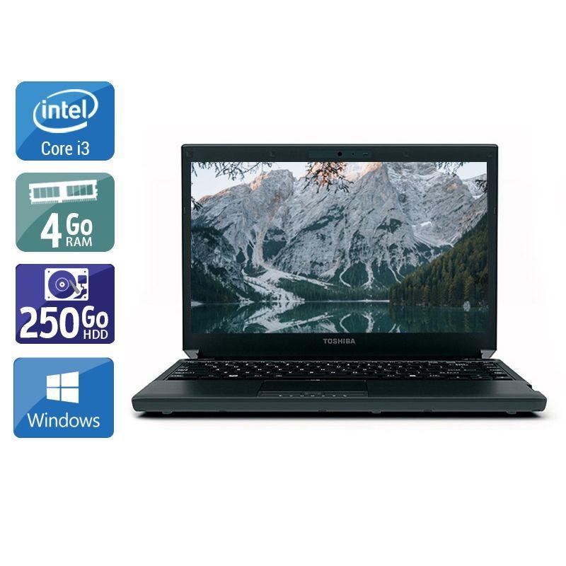 Toshiba Portégé R700 i3 4Go RAM 250Go HDD Windows 10