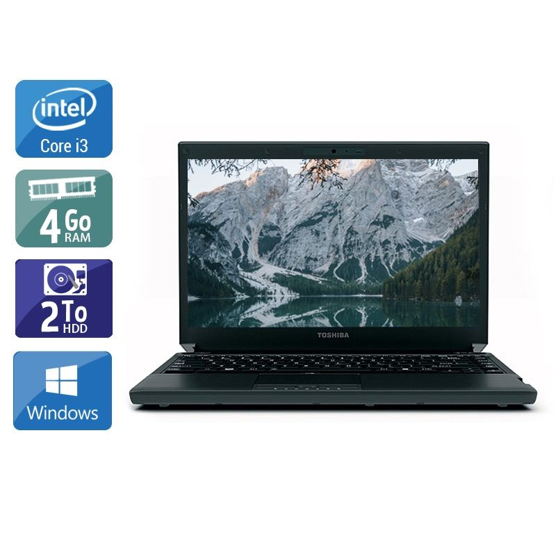 Toshiba Portégé R700 i3 4Go RAM 2To HDD Windows 10