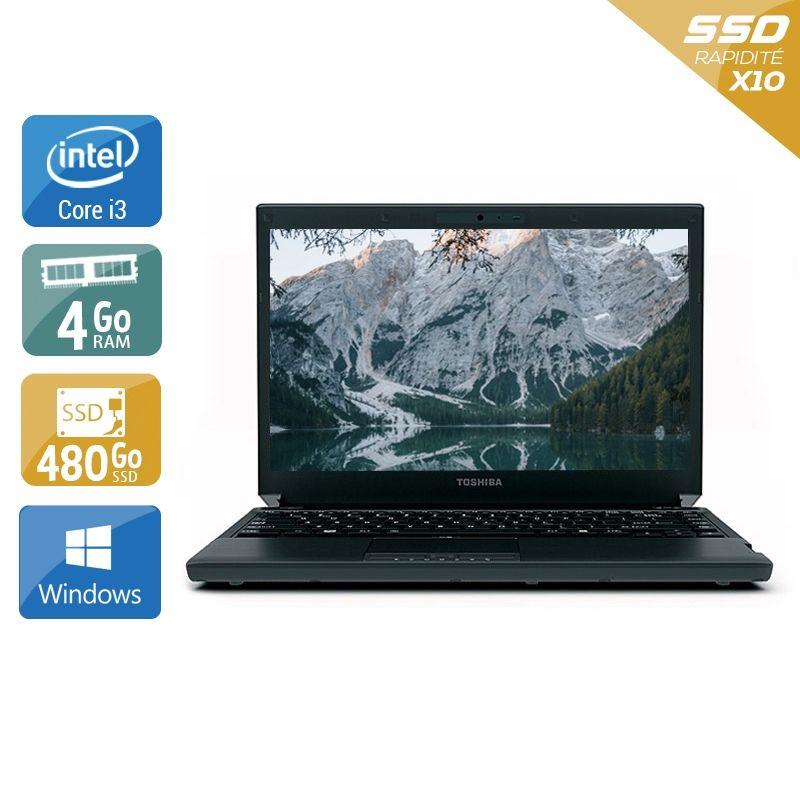 Toshiba Portégé R700 i3 4Go RAM 480Go SSD Windows 10