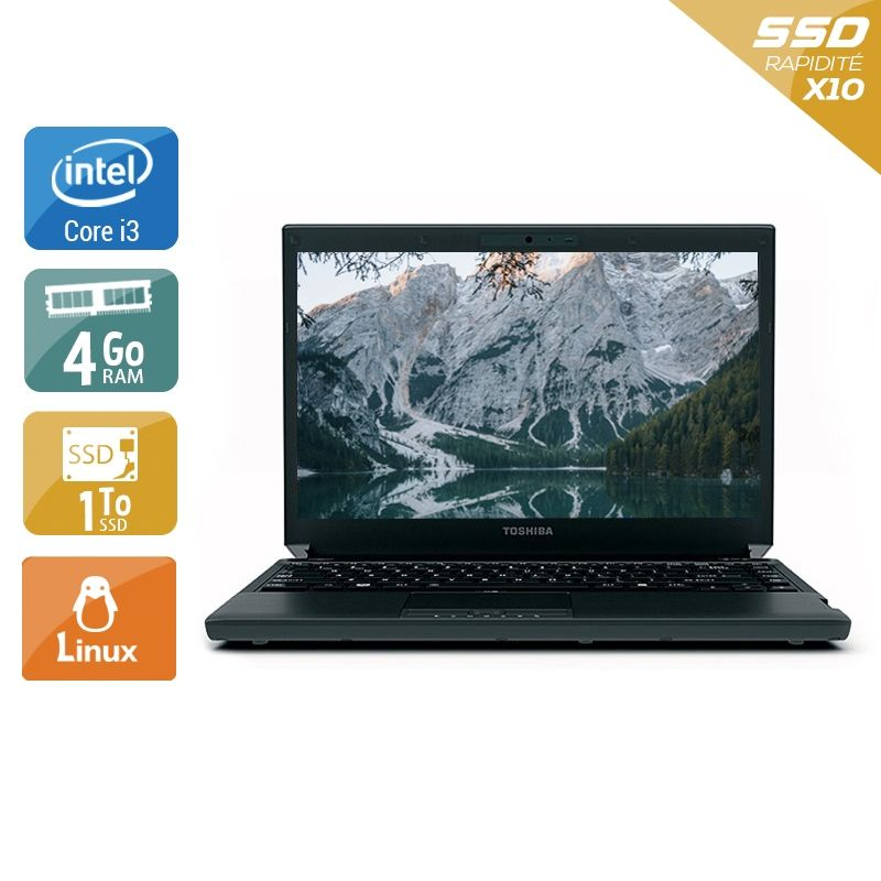Toshiba Portégé R700 i3 4Go RAM 1To SSD Linux