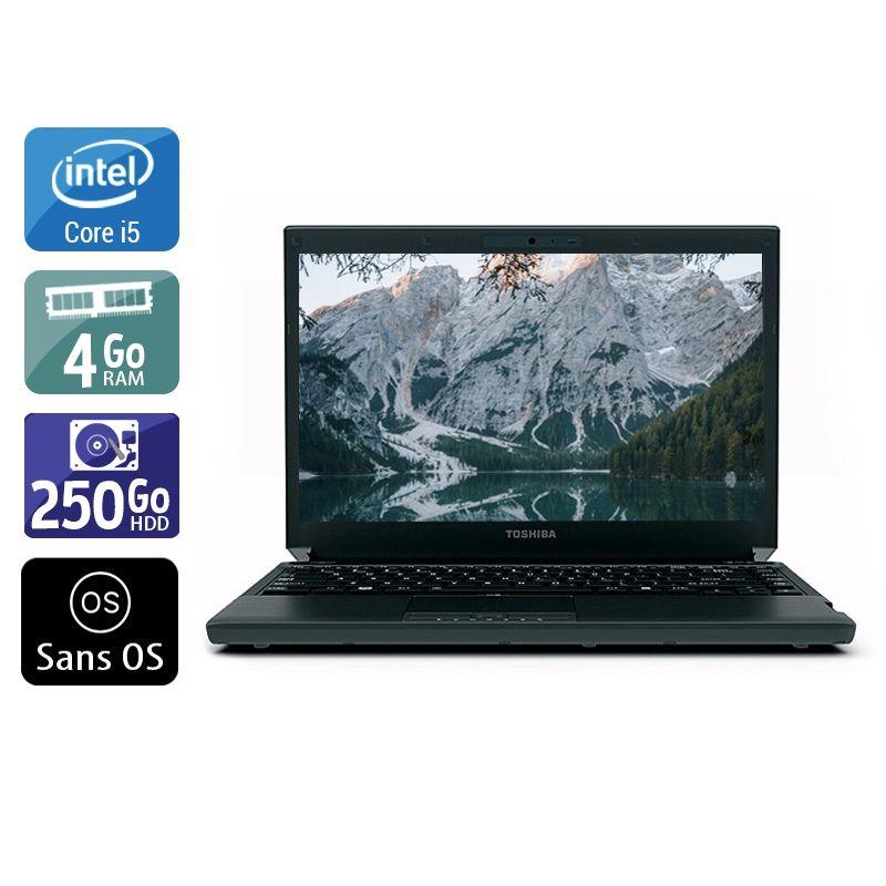 Toshiba Portégé R700 i3 4Go RAM 250Go HDD Sans OS