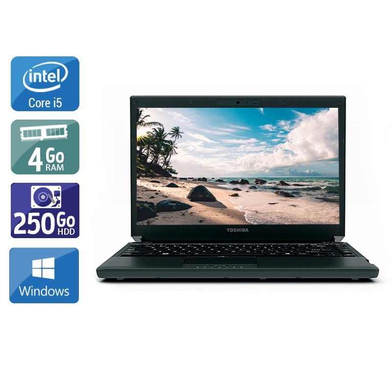 Toshiba Portégé R700 i5 4Go RAM 250Go HDD Windows 10