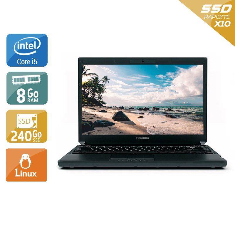 Toshiba Portégé R700 i5 8Go RAM 240Go SSD Linux