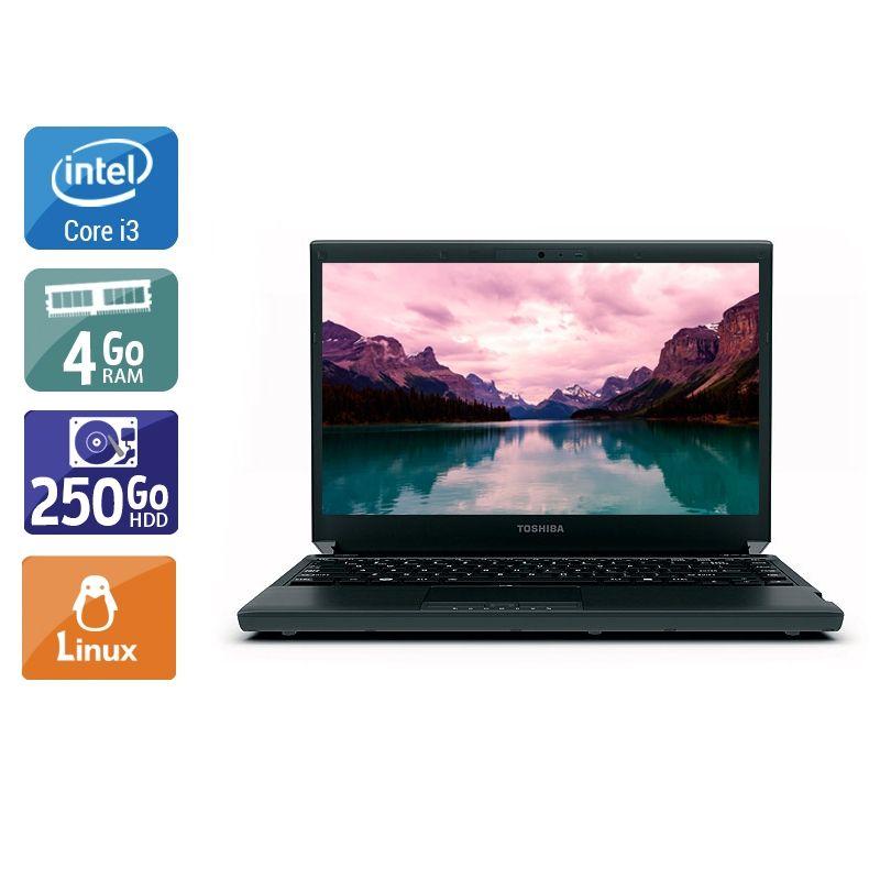 Toshiba Portégé R830 i3 4Go RAM 250Go HDD Linux