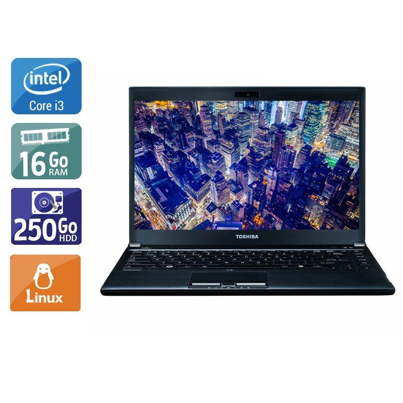 Toshiba Portégé R930 i3 16Go RAM 250Go HDD Linux