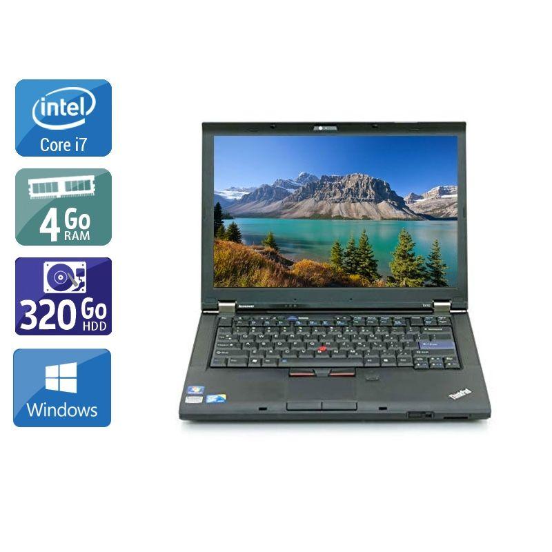 Lenovo ThinkPad T410 i7 4Go RAM 320Go HDD Windows 10